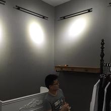 现代简约?#21487;?#32032;色水泥灰深灰色无纺布壁纸时尚韩式女装服装店墙纸