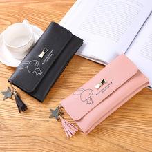 长款小钱包2019新款春季韩版可爱风创意兔子女士钱包代理一件代发