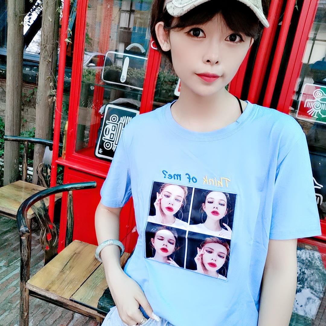 主调服饰女装夏季新款韩版爆款2019夏装潮ins短袖t恤女宽松上衣服