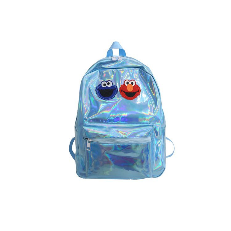Colorful personality pu backpack Korean student backpack HX190413117305