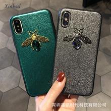 新款创意适用iphonex 6 蜜蜂手机壳苹果7/8plus贴皮蜜蜂保护套