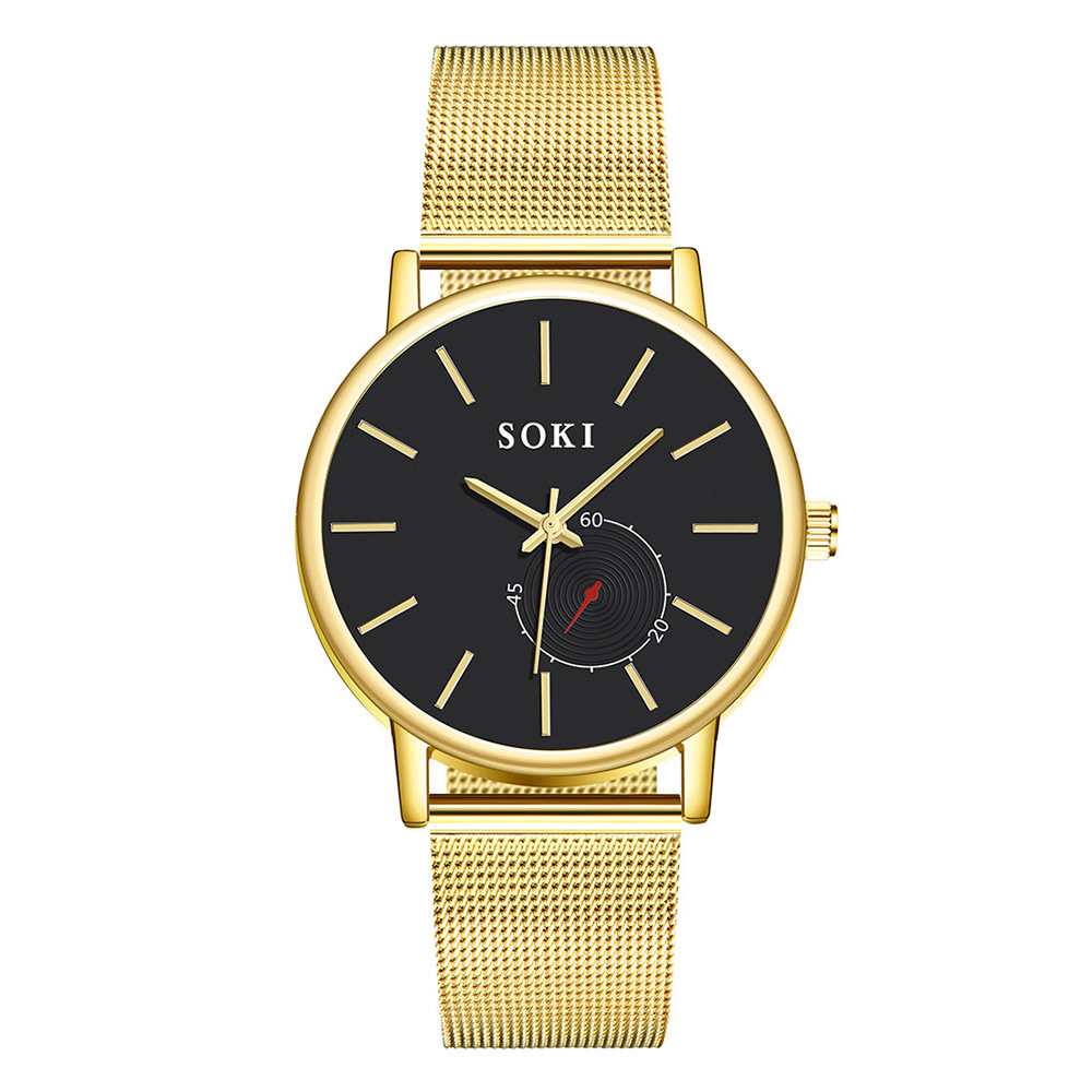 Fashion casual cool net with quartz watch NHUP135349