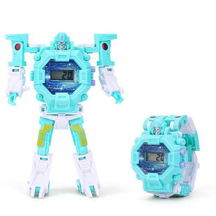 AliExpress Deformed Electronic Watches Cartoon Manual Robots Children's Toy Stalls Hot Sale