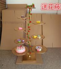 新款欧式创意铁艺蛋糕架六层八层十层多层婚庆婚礼生日甜品架包邮