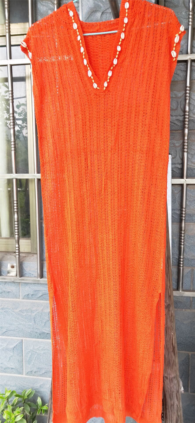 Sun protection beach skirt holiday dress long skirt swimsuit outer cover shirt NHXW121885
