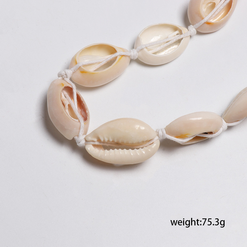 Casual handmade shell long clavicle chain necklace NHJJ129192