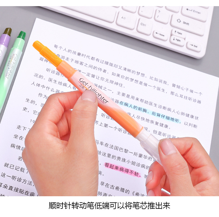Stationery Colored Solid Highlighter Marking Marker Graffiti Pen Student Crayon NHZE193836