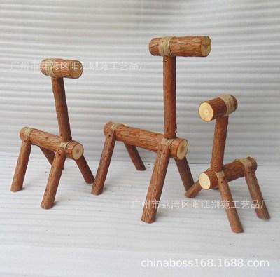创意装饰工艺品手工制作小木马装饰木头马仔木偶木头人工艺道具