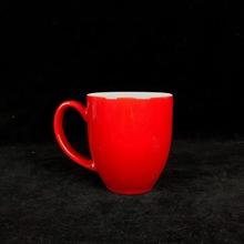 新款漏斗色釉陶瓷杯定制logo广告促销礼品赠品红色水杯咖啡杯厂家