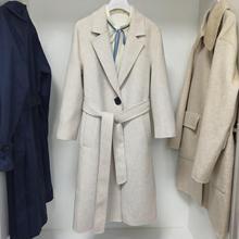 预售代发2019冬装新款韩版双面呢大衣宽松毛呢外套女装1A8971561