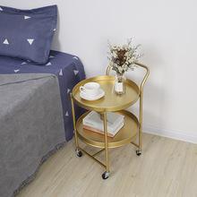 創意簡約帶輪推車茶幾 家居客廳臥室沙發邊幾 美容會所可移動桌子