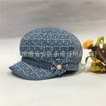 春秋季帽子女韩版时尚八角女帽中老年帽妈妈帽鸭舌帽贝雷帽休闲帽