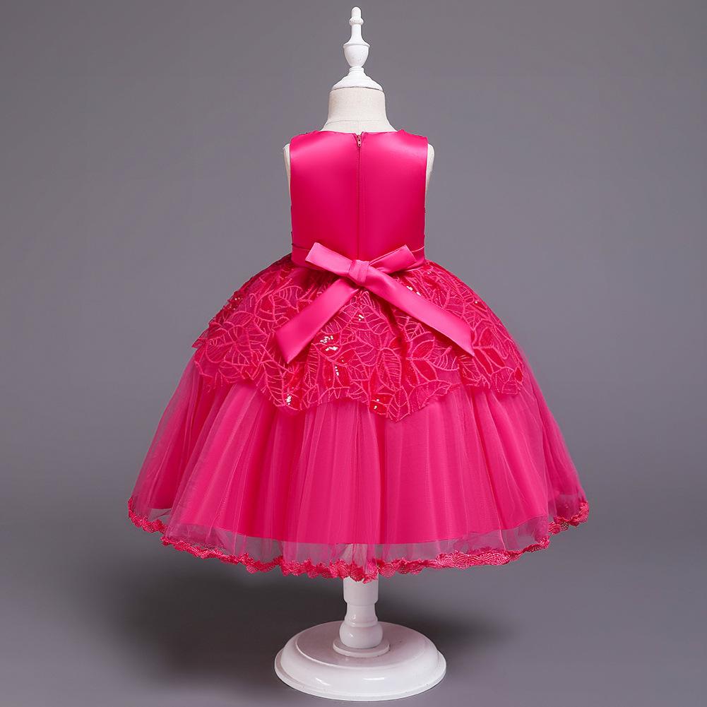 Vestido de niña de las flores niña princesa falda niños desfile desfile vestido NHTY184215