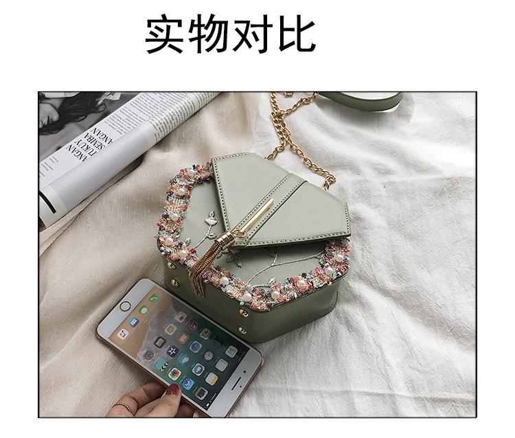 Joker simple chain bag embroidery thread Messenger bag TC190413117136