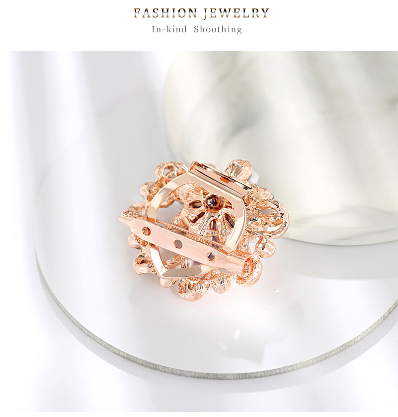 Scarf buckle high-end diamond color brooch wholesale NHDR199861