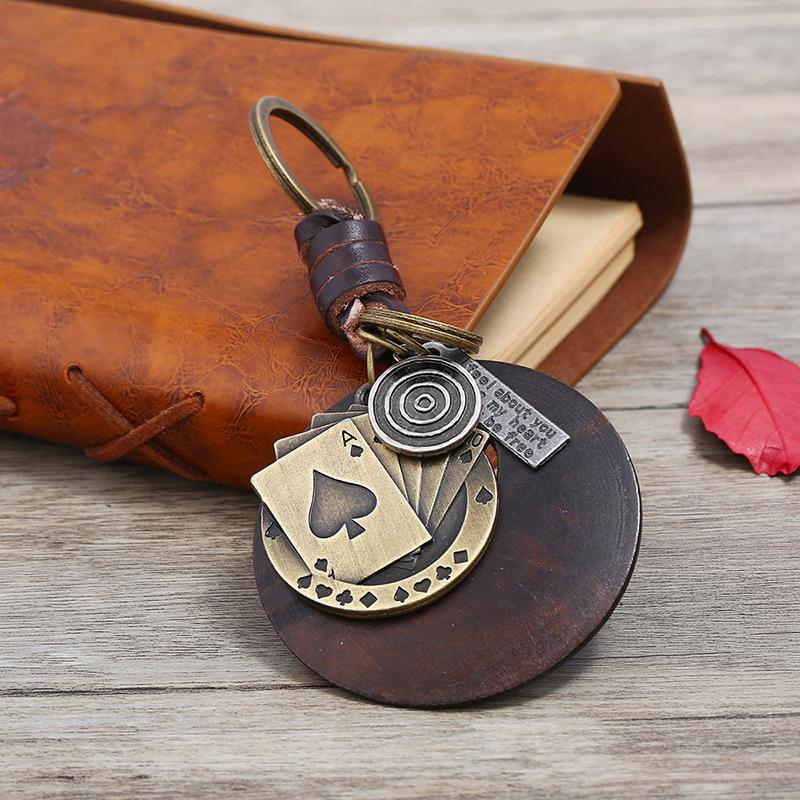 Leather Fashion  key chain  (Photo Color)  Fashion Accessories NHPK2253-Photo-Color