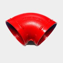 消防沟槽管件 90°度弯头现货批发消防管配件沟槽消防弯头