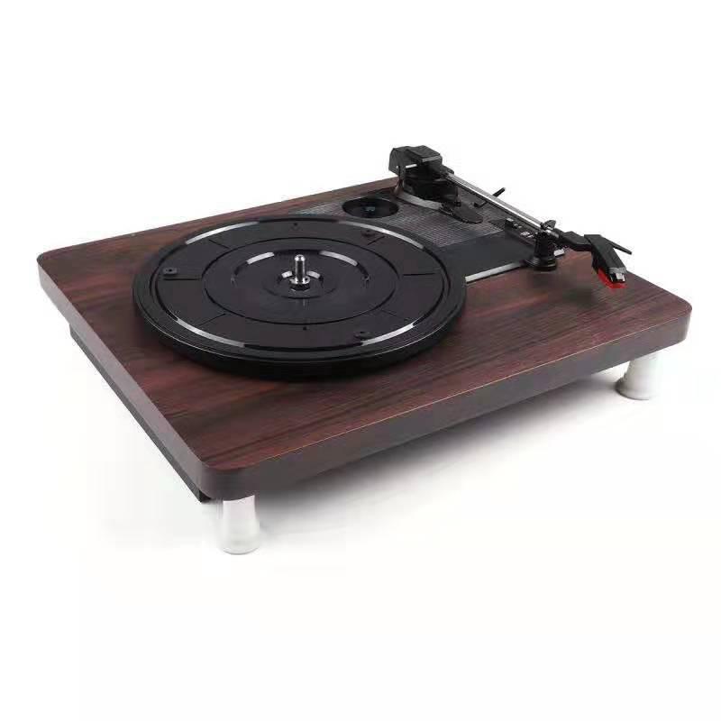 复古装饰黑胶唱片机 黑胶机 PVC平板留声机 外接功放电唱机