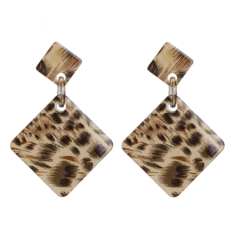 Leopard fashion resin earrings NHJJ155637