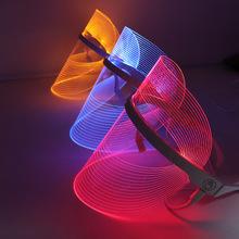 新款LED美容三色光谱面罩面膜嫩肤仪家用小灯泡彩光美容面罩厂家
