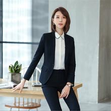 職業西服套裝女2019夏季新款時尚職場女裝中袖正裝條紋工作服6806