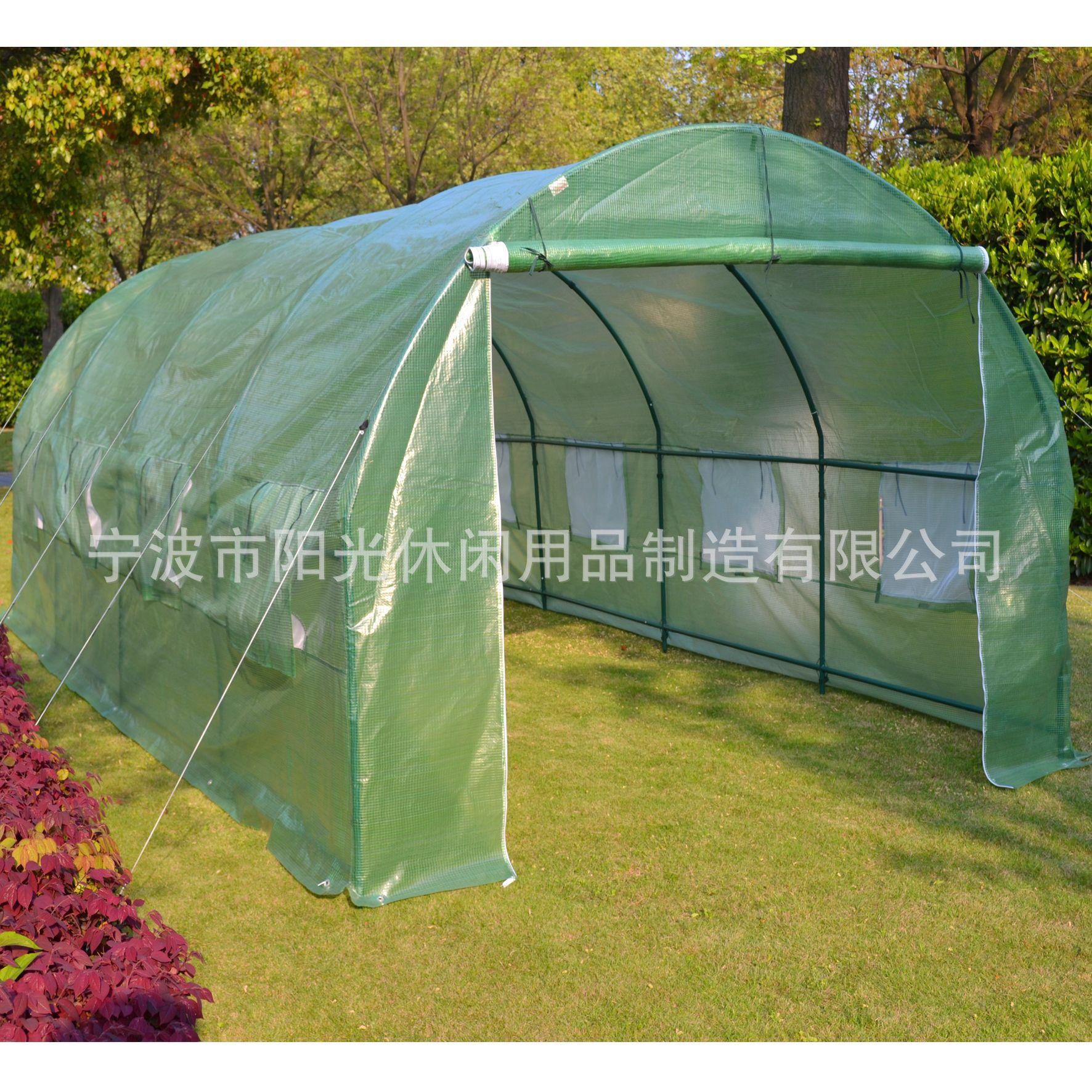 一件代发花房暖房家用动植物花草多肉防冻防雨6米全钢架温室花棚