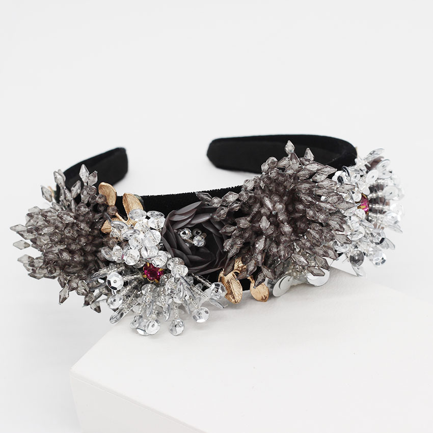 Fashion wild crystal tassel exaggerated headband NHWJ156818