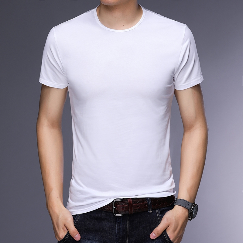 T-shirt homme - Col rond - Ref 3409000 Image 2