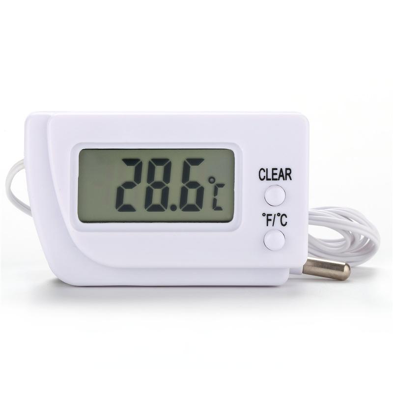 KIMTOKA温度计高精度电子数字冰箱水族测温计 外置1.5M传感线探头