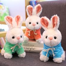 可爱卫衣兔子穿衣小白兔公仔布娃娃毛绒玩具网红兔兔玩偶七夕礼物