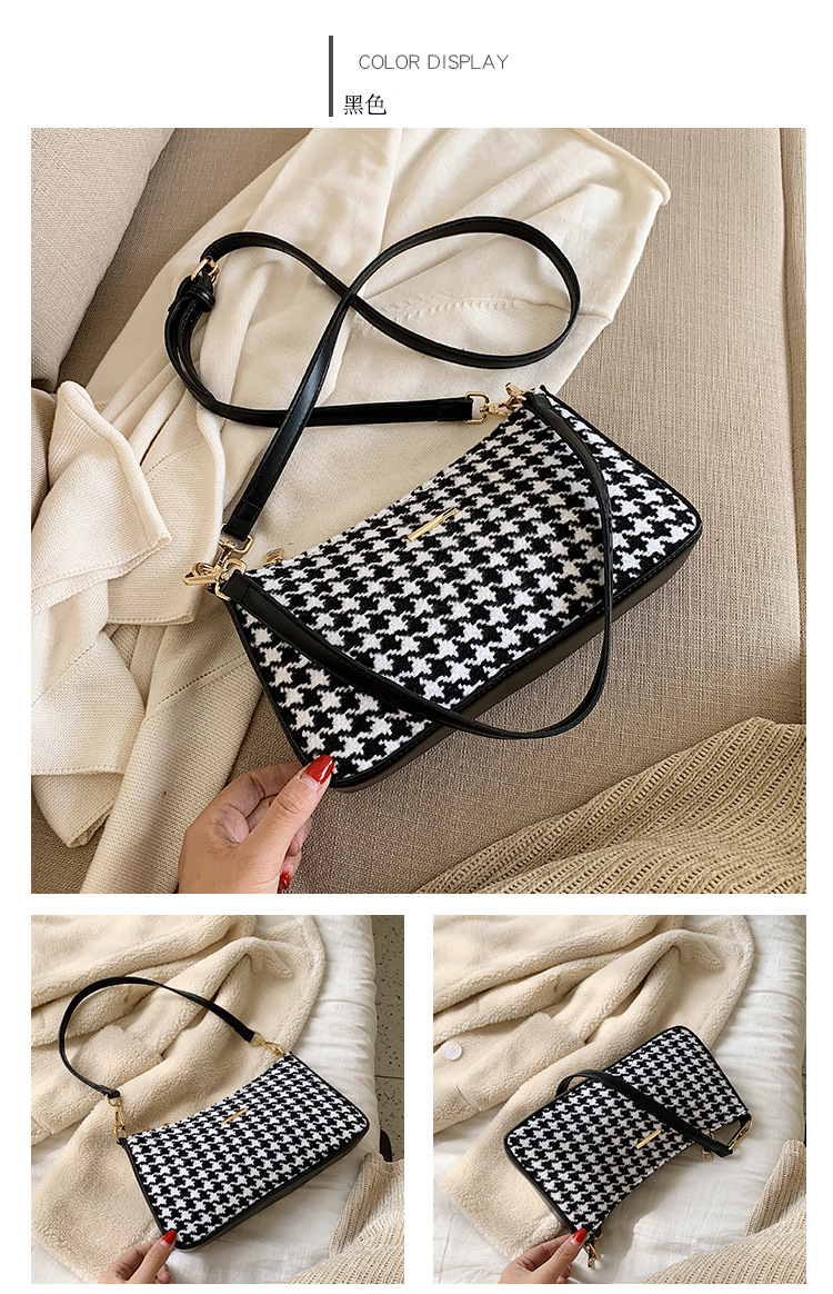 Korean version of the wild Messenger chain hair wool small square bag NHTC170494
