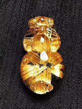 凤呈祥 天然钛晶花貔貅吊坠 晶体通透造型饱满招财转运保平安饰品