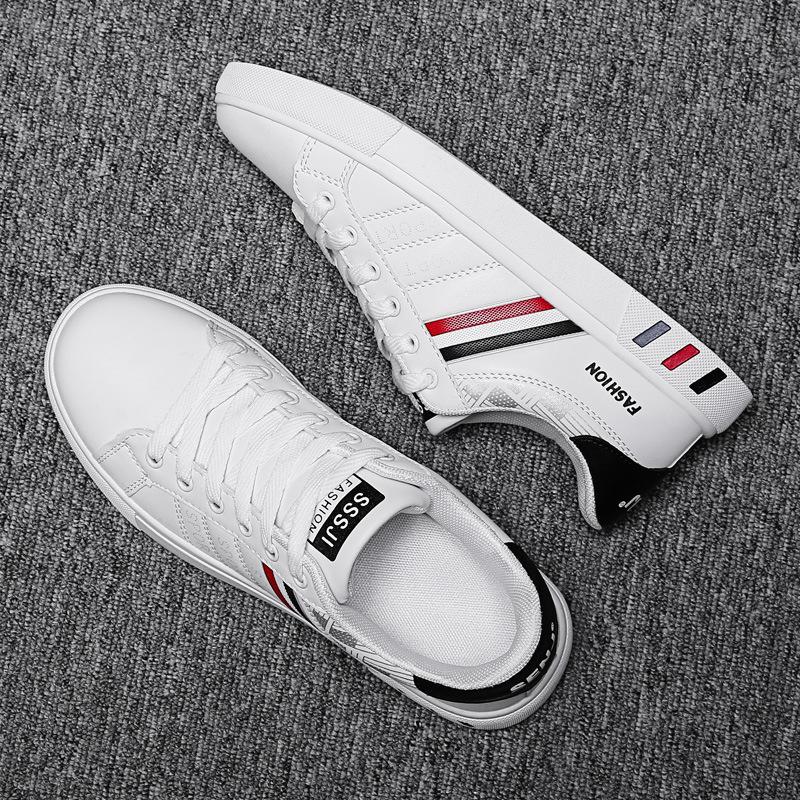 2020 الخريف الجديدة عارضة أحذية رجالية أحذية الاتجاه تنفس أحذية رجالية أحذية بيضاء أعلى انخفاض أحذية أحذية