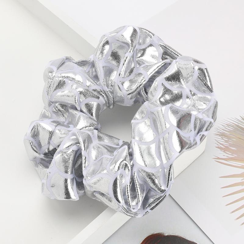 Fashion scale scale pattern shiny cloth hair ring high-grade hair bowel headband NHJE190676