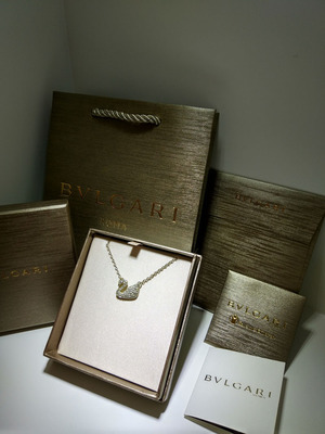 A-BOX小红人款慈善款项链盒宝家盒专柜1比1首饰包装盒配送丝带批