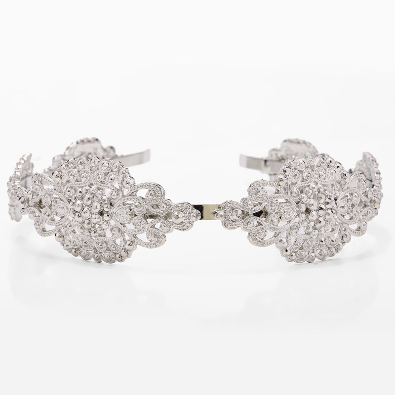 New Headband Alloy Exquisite Flower Headband Bridal Headdress NHKC177330