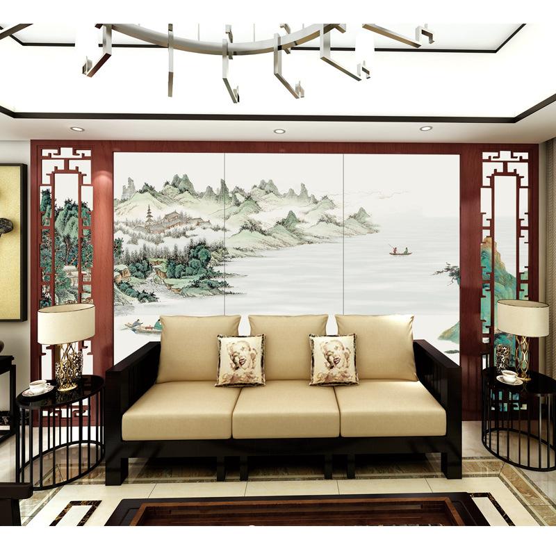 佛山工厂定制瓷板画景观迎门陶瓷背景墙薄瓷砖文化形象艺术墙壁画