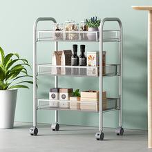 多功能金屬網籃推車 浴室衛生間洗漱用品置物架 廚房收納整理架