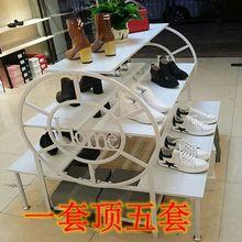 鐵藝中島多功能服裝鞋包展示架貨架流水臺落地式高檔陳列柜多層架