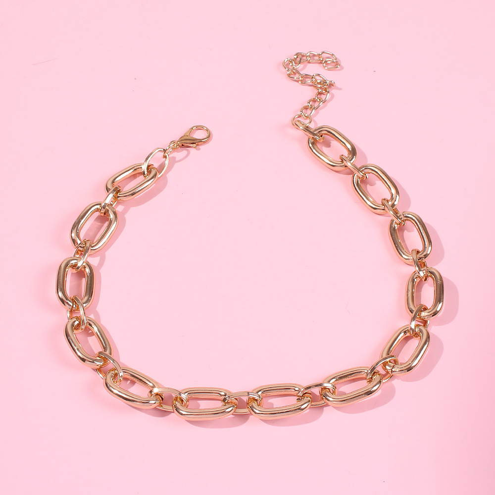 New hip-hop style metal short money chain fashion boutique wild-type clavicle chain NHMD186059