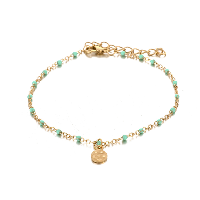 Rice Pearl Conch Starfish Anklet Metal Chain Star Anklet Set NHGY195393