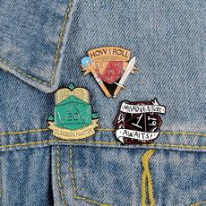 Alloy bird brooch heart yin and yang cat cartoon anti-lightout brooch bird brooch pin NHBO198725