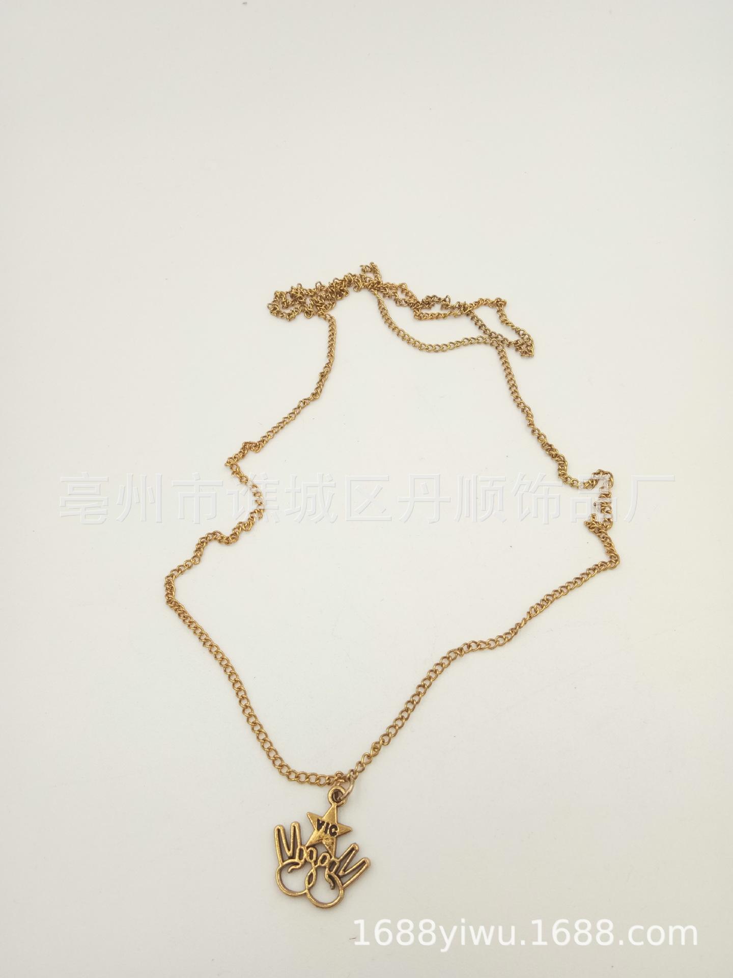 丹顺外贸饰品 时尚韩式长款项链 镂空小兔吊坠 时尚精美