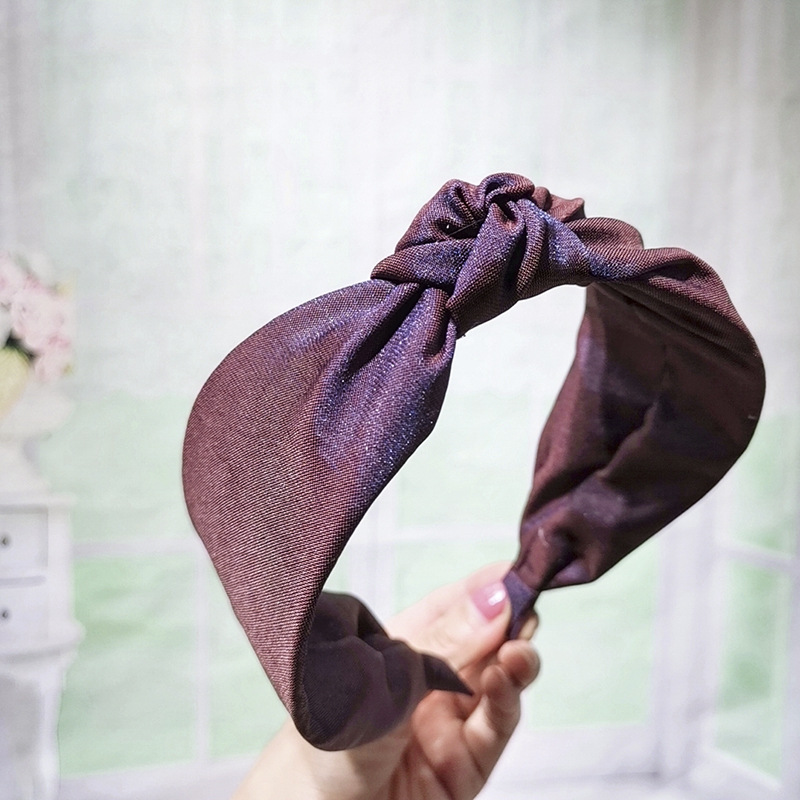 Wild solid color knotted fabric headband NHOU128840