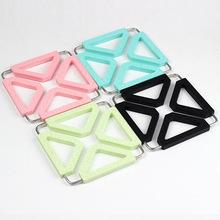 不锈钢厨房锅垫硅胶折叠防烫杯垫隔热垫餐垫防滑硅胶垫