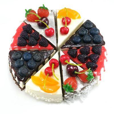 货源三角切块蛋糕模型冰箱贴PCK-V 欧式家居摆饰样板间橱窗展示摄影用批发