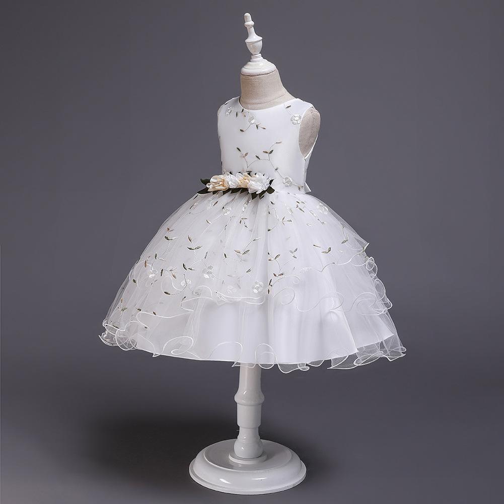 Children's dress floral dress flower girl dress princess skirt girl pettiskirt costume NHTY198310