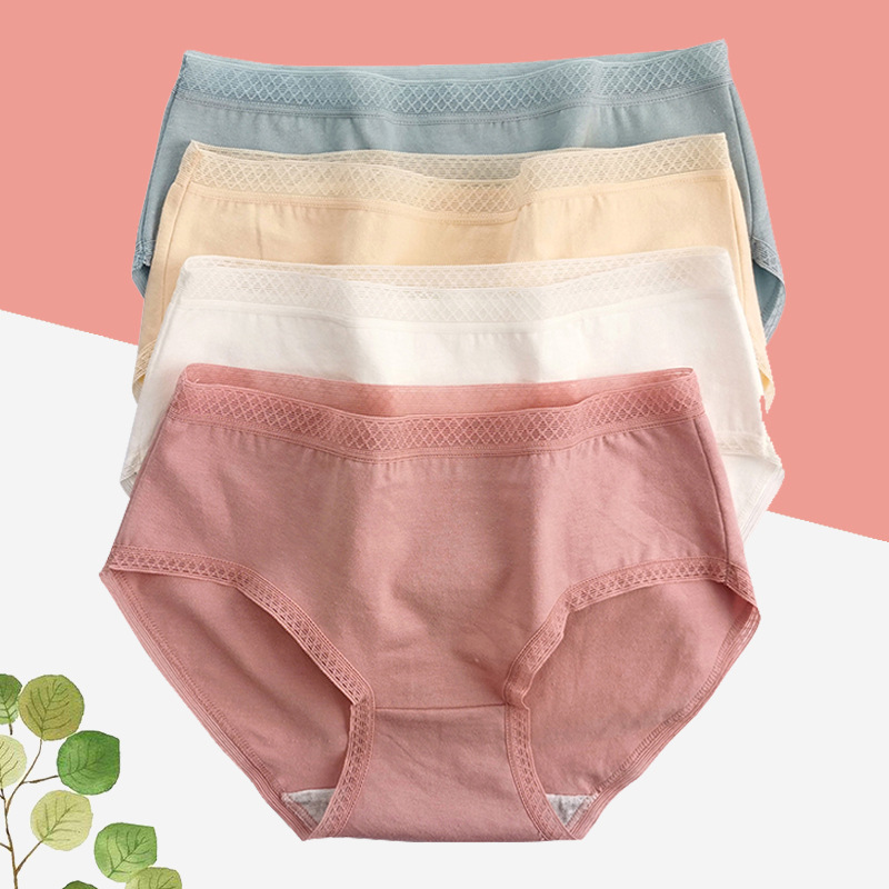 solar system Cotton underpants Lace pure cotton sexy Antibacterial Large No trace girl student underpants Junior school student Briefs