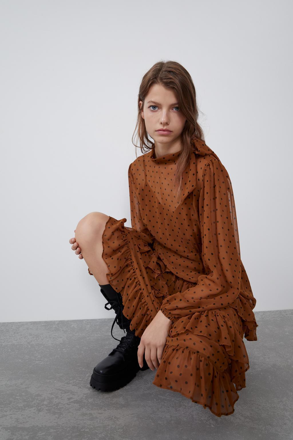 Stylish laminated decorative wave dress NHAM158469