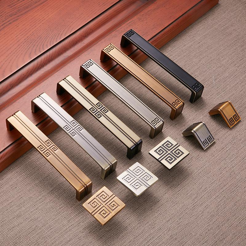 中式拉手柜门青古铜衣柜橱柜把手欧式仿古抽屉橱门柜子新中式拉手